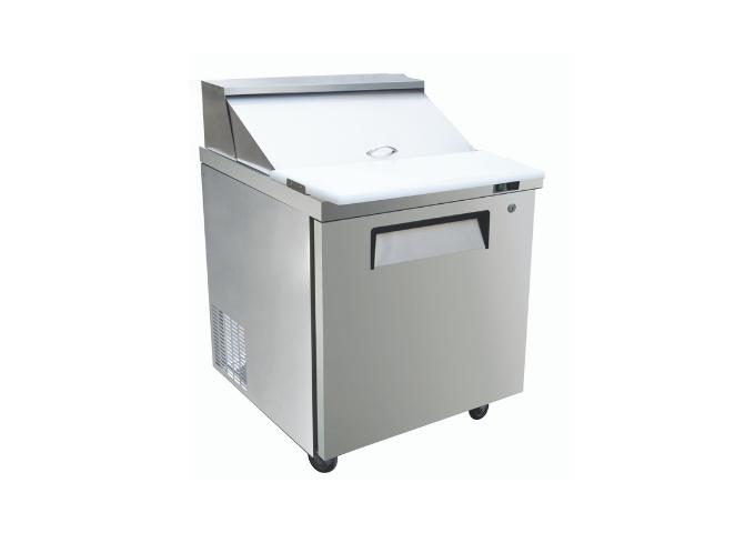 "Manotick MT-KSR-27B 28"" 1 Door Refrigerated Sandwich Prep Table   White Stone"