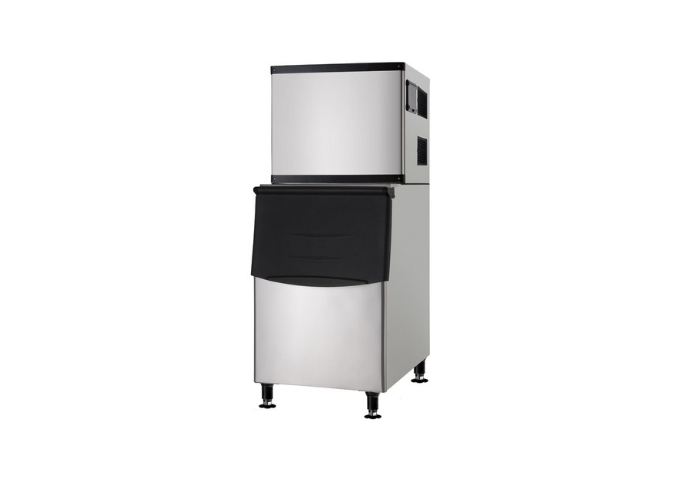 Manotick MT-M500A Air Cooled Modular Full Cube Ice Machine with Bin - 500 lb. | White Stone